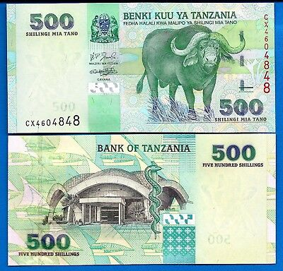 Tanzania P-35 500 Shillings Year ND 2003 Uncirculated Banknote Africa