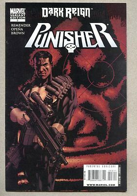 Punisher #3-2009 vf variant cover/ RICK REMENDER Dark Reign