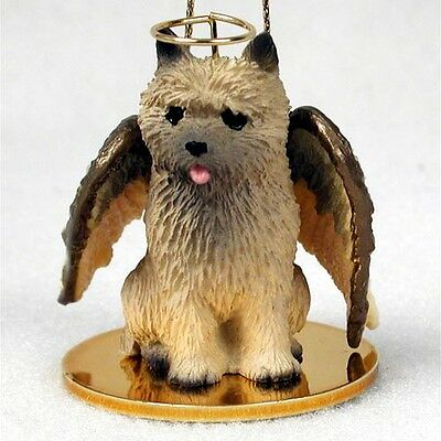 CAIRN TERRIER Red Dog ANGEL Tiny One Ornament Figurine Statue
