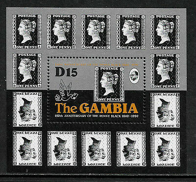 Gambia #1003 Mint Never Hinged S/Sheet - Penny Black Anniversary