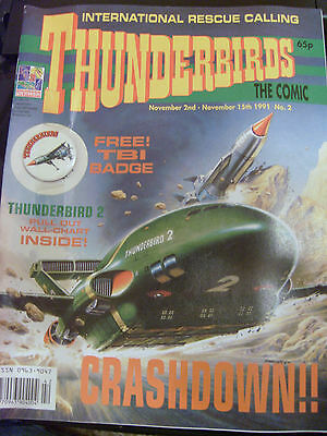 THUNDERBIRDS The Comic - Issue No 2 - Free gift attached, MINT CONDITION!!!