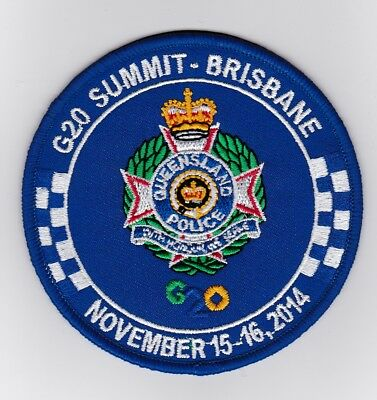 Queensland Police G20 Summit Brisbane 2014 Patch (social)