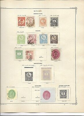 Hungary cut squares most unusual 19th  century only  (#0274a)