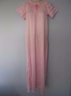 Vintage Nightgown Semi Sheer Nylon Queentex Lace Sissy Silky Lacy Lingerie