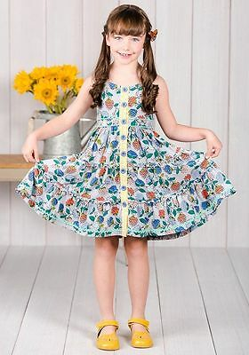 NWT Matilda Jane The Adventure Begins Tag You're It Floral Dress Girls Size 6