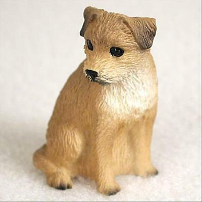 Border Terrier Dog Tiny One Miniature Small Hand Painted Figurine