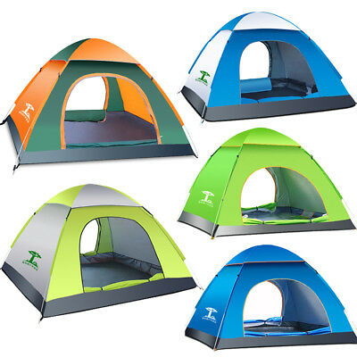 Waterproof 3-4 People Automatic Instant Pop Up Family Tent C&ing Hiking Tent  sc 1 st  PicClick & 6 PERSON Camping Automatic Instant Pop up Family Tent Waterproof ...
