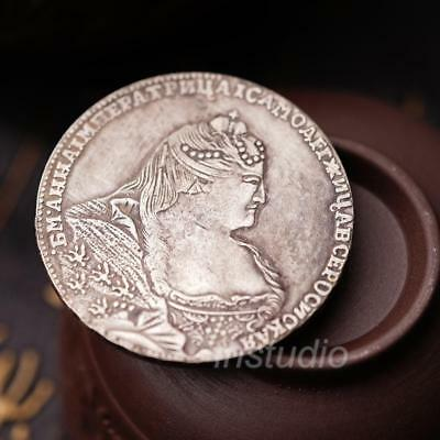 1737 Russian Human Head Avatar Ancient Silver Coins Commemorative Coin New