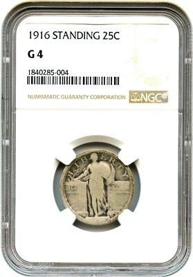 1916 Standing Liberty 25c NGC Good-04 - Famous Key Date - Famous Key Date