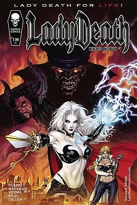 LADY DEATH MERCILESS ONSLAUGHT #1, STANDARD COVER, New, Coffin Comics (2017)