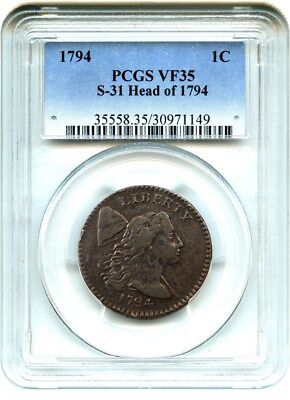 1794 1c PCGS VF35 (S-31, Head of 1794) Perfect Type Coin - Large Cent