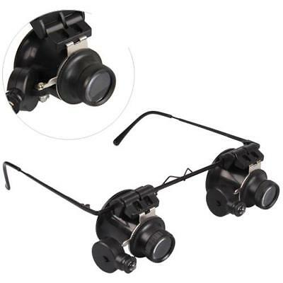 20 Fach Vergr??erungsglas Lupenbrille Lupe Theater Glass Loupe mit LED Lampe
