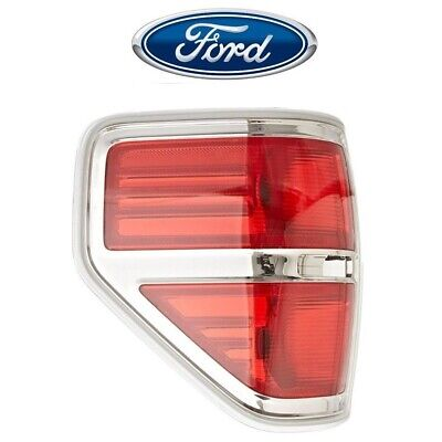 For Ford F-150 2009-2014 Driver Left Chrome Tail Light Lamp Assembly Genuine OEM