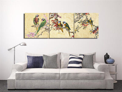 Wall Art Picture-Parrot Flower Tree Home Decor Canvas Print Painting W/N Frame