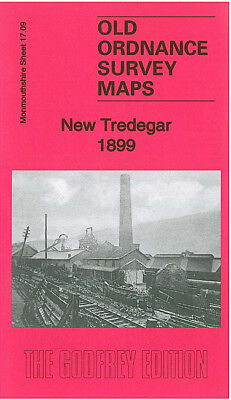 Old Ordnance Survey Detailed Map Tredegar North Monmouthshire 1899 S 11.09 New