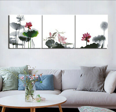 Summer Lotus Pool Modern Art Picture Home Decor Canvas Print Painting W/No Frame