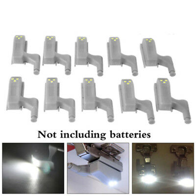 10Pcs LED Sensor Light Kitchen Cabinet Cupboard Closet Wardrobe Hinge Lights