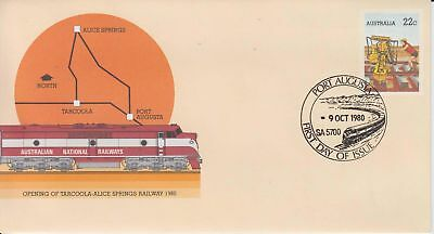 Australia 1980 Opening Tarcoola-Alice Springs Railway First Day cover PSE