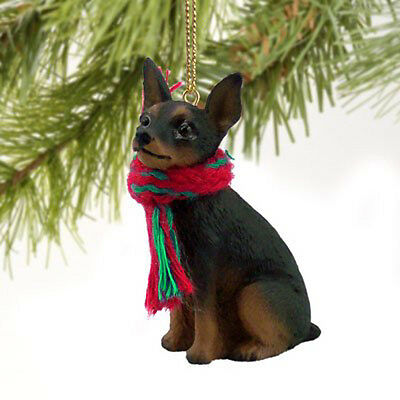 Miniature Pinscher Black Tan Dog Tiny One Miniature Christmas Holiday ORNAMENT