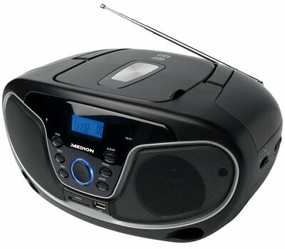 MEDION LIFE MD 84101 E66224 Stereo Sound System Boombox CD MP3 USB SD AUX