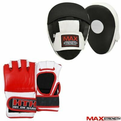 Boxing Focus Pads Set MMA Training Grappling Gloves Muay Thai Punch Fight Mitts