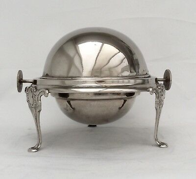 Fine Quality Antique Victorian Silver Plated Butter/Caviar Dish & Liner C.1880