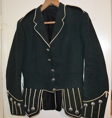 Vintage Wool Piper Or Drummer Jacket, Scottish, Thistle Buttons