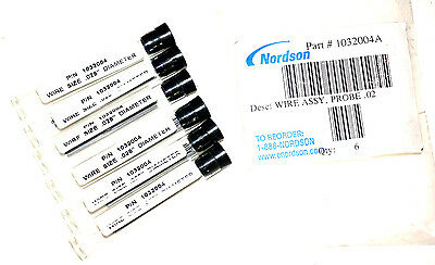 New Lot Of 6 Nordson 1032004A Wire Assemblies, Probe .028'', 12 Wires Per Tube