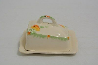 """""""IVORY"""" Butter/Cheese Dish in cream with flowers and leaf decoration   (JBW 4)"""