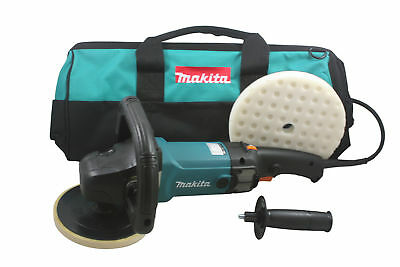 Makita 9237CX2 7 Inch Variable Speed Polisher and Sander with Pad and Bag