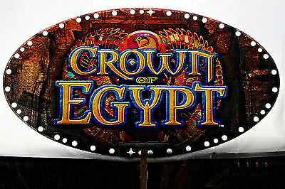 "Slot Machine Topper Incert ""CROWN OF EGYPT"" Window Transparency Sign."