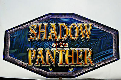 "Slot Machine Topper Incert ""Shadow Of The Panther"" Window Transparency Sign."