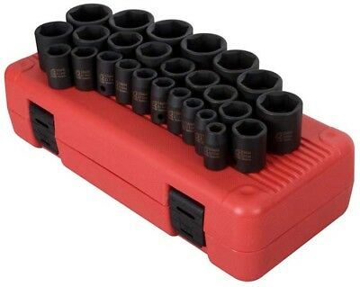 "Sunex 2645 26 Pc. 1/2"" Drive Metric Impact Socket Set"