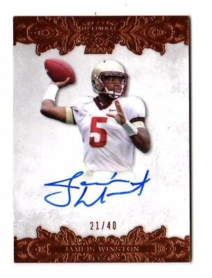Jameis Winston Nfl 2015 Leaf Ultimate Draft # 21 / 40 (Tampa Bay Buccaneers)