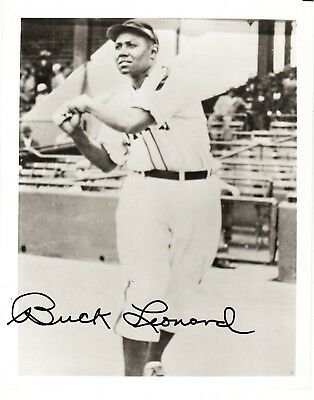 NEGRO LEAGUES & Baseball Hall of Famer BUCK LEONARD Signed Photograph