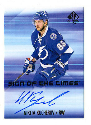 Nikita Kucherov Nhl 2015-16 Sp Authentic Sign Of The Times Auto (Tampa Lightning