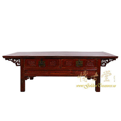 Chinese Antique Carved Zhejiang Coffee Table/TV Stand 17LP42