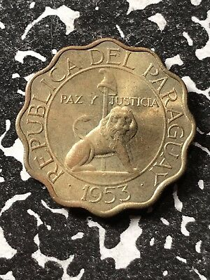 1953 Paraguay 50 Centimos Lot#X2330 High Grade! Beautiful!