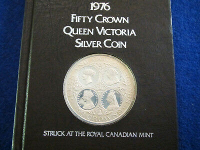 1976 Turks & Caicos Silver Proof 50 Crowns - 4 Cameos - Free U S Shipping