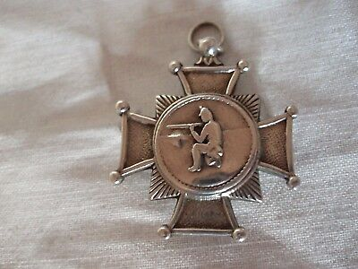 R1Fle Shooting Medal Victorian Sterling Silver Birmingham 1889