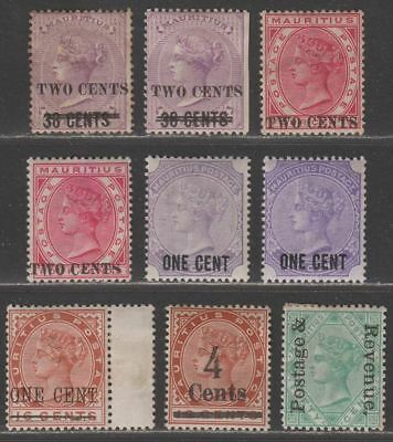 Mauritius 1891-1902 Queen Victoria Surcharge Selection / 50c Overprint Mint