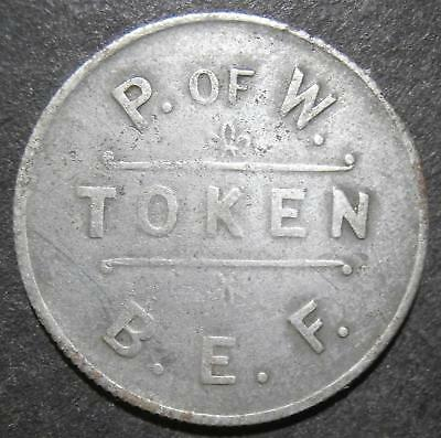 Military token - Prisoner of war BEF 10 cts - British Expeditionary Force P.ofW.