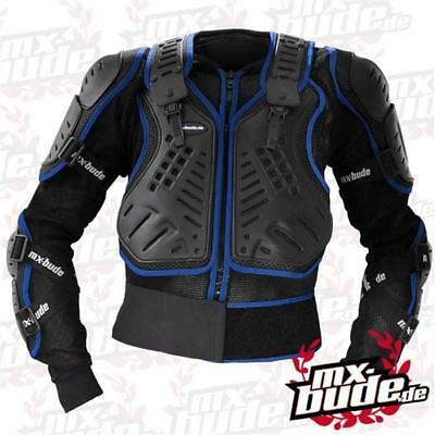MX-Bude Safety Jacket - schwarz blau Motocross Enduro MX Cross Brustpanzer