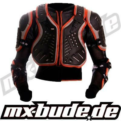 MX-Bude Safety Jacket Kinder Brustpanzer orange Motocross Enduro MX Cross