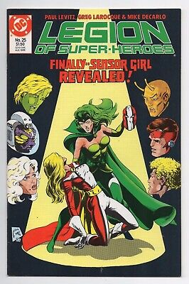 DC Comics Legion of Super-Heroes #25 Sensor Girl I.D. Revealed Copper Age