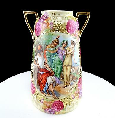 "Royal Vienna Bloch & Co Eichward Gb Tiepolo Judgment Of Paris 6 1/4"" Vase 1920"