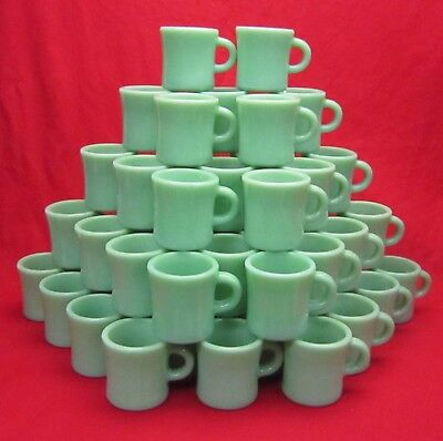 Vintage Jadeite Jadite Fire King Restaurant ware mugs. Minty mint Many available