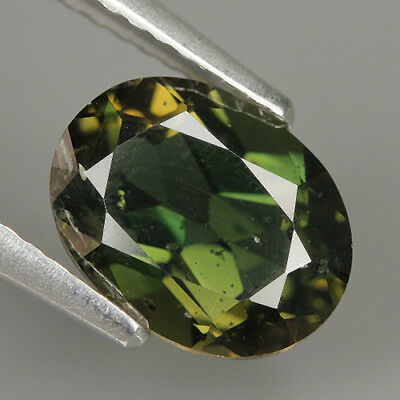 2.18 Ct Natural Unheated Greenish Yellow KORNERUPINE Oval Gem @ See Video !!