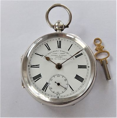 1900 Silver Cased Big Chunky English Lever Pocket Watch Kendal & Dent Working