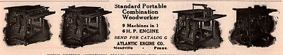1910 B Ad  Atlantic Engine Co Portable Combination Wood Machines Meadville